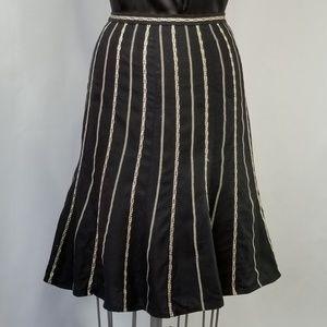 Ann Taylor Embroidered Flounce Skirt